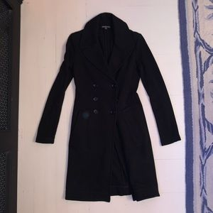 James Perse black pea coat